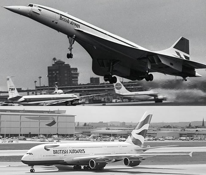 From The Iconic Concorde To The Massive Airbus A380 Here