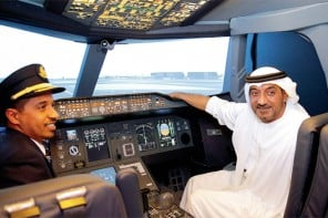 Emirates installs a full fledged Airbus A380 simulator at the Dubai Mall