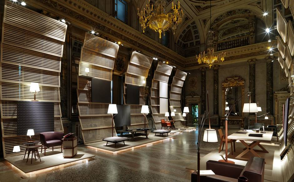 Hermès Launched Its Fourth Edition Of Home Universe Collection En Lumière At The Baroque Palazzo Serbelloni During Milan Furniture Fair