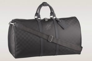 Louis Vuitton's Damier Carbone Keepall travel bag gets a high tech makeover
