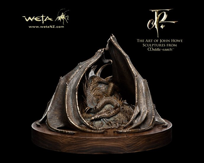 This 4 900 Smaug The Golden Bronze Statue By Weta