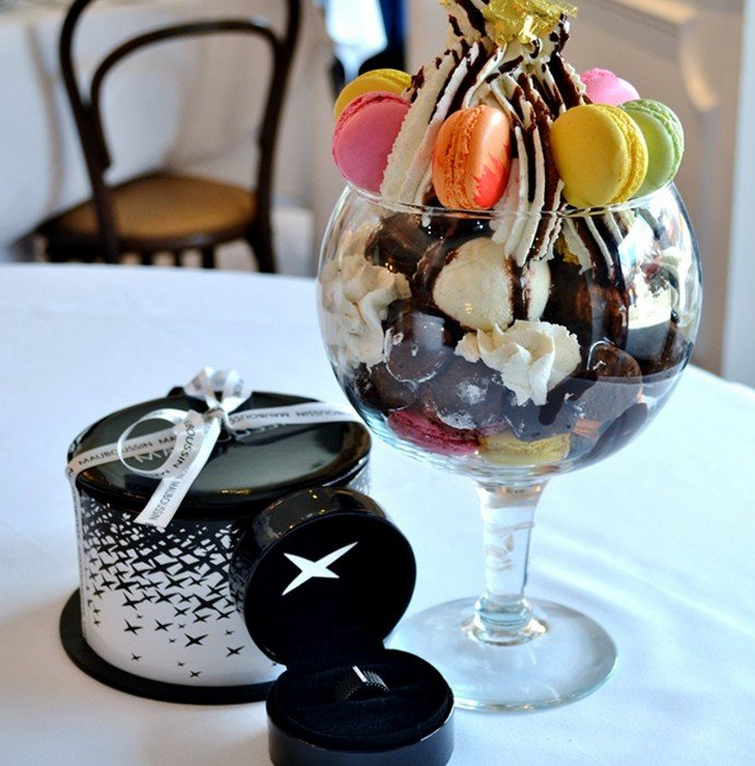 New York Restaurant Offers Ice Cream Sundae With Maubossin