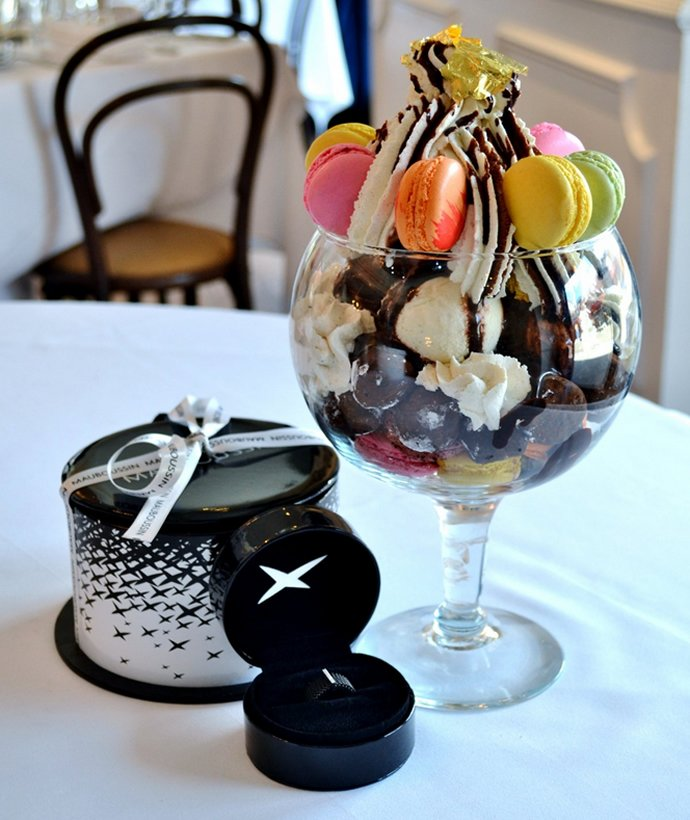 New York restaurant offers Ice Cream Sundae with Maubossin ring for $1,000 : Luxurylaunches
