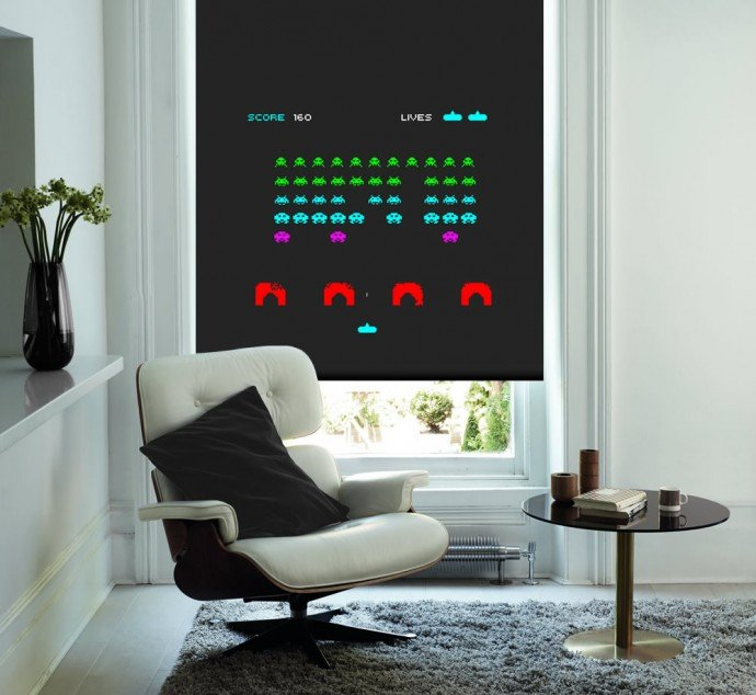 Space-Invaders-Game-Colour-Roller-Blind