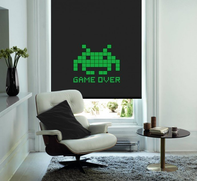 Space-Invaders-Game-Over-Roller-Blind