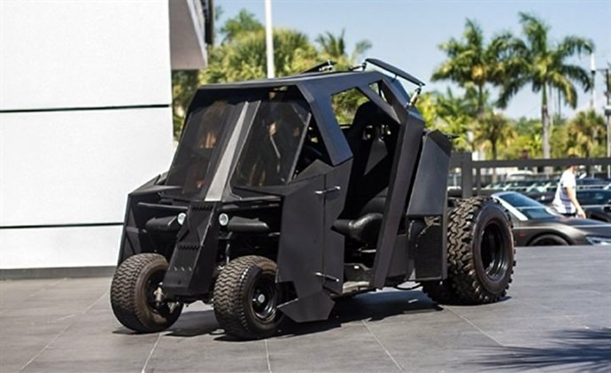Hit the greens with the Batman Tumbler Golf Kart