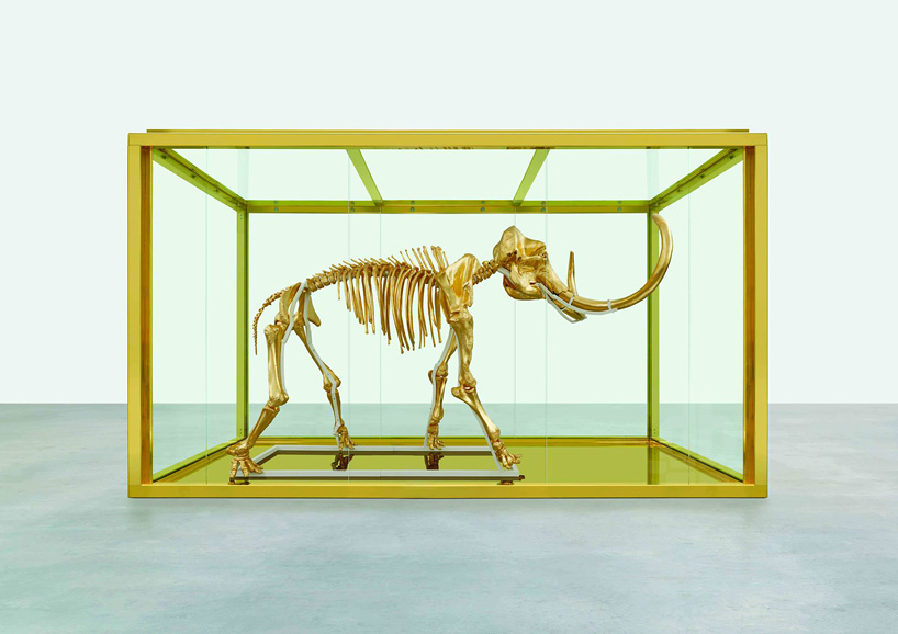 damien-hirst-golden-mammoth-skeleton