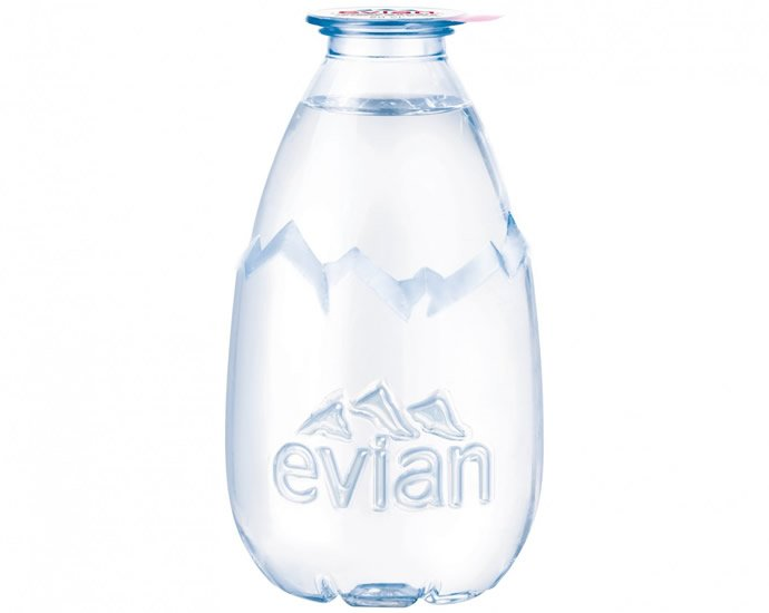 Luxury Goes Green New Drop Evian Water Makes Recycling Cool