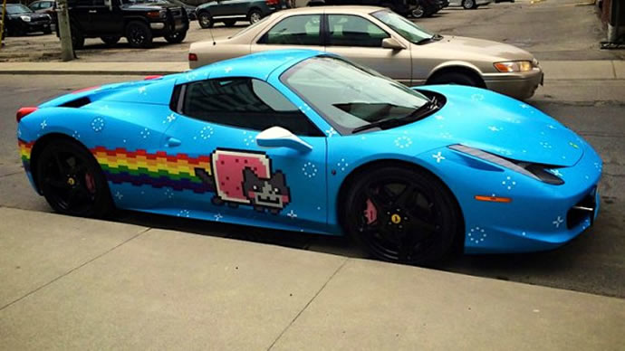 Remember Deadmau5\u0027s Ferrari 458 Italia With The Outrageous Nyan Cat Wrap?  Yes We Are Talking About Same Light Blue Colored Nicknamed \u201cPurrari\u201d ...