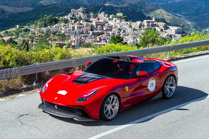 One-off Ferrari F12 TRS priced at $4.2 million unveiled at the Ferrari Cavalcade 2014