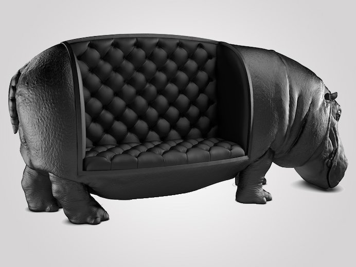 Maximo Riera S Hippopotamus Sofa Brings The Power And