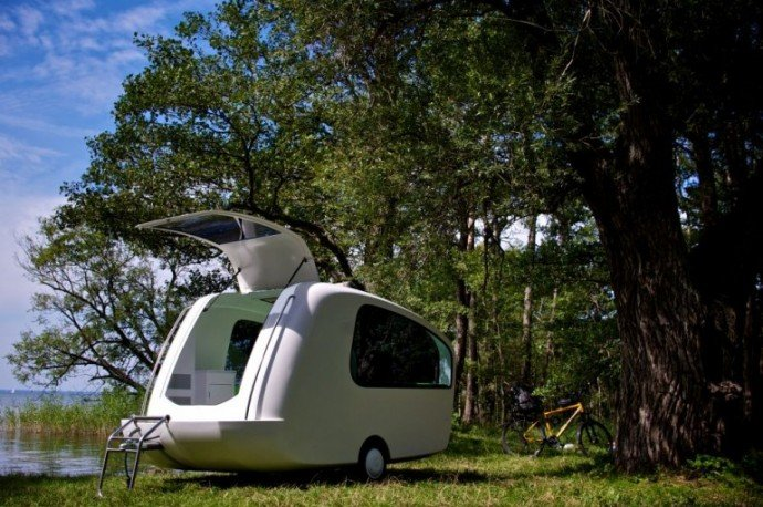 Sealander is a lightweight camping trailer that doubles up Sealander caravan