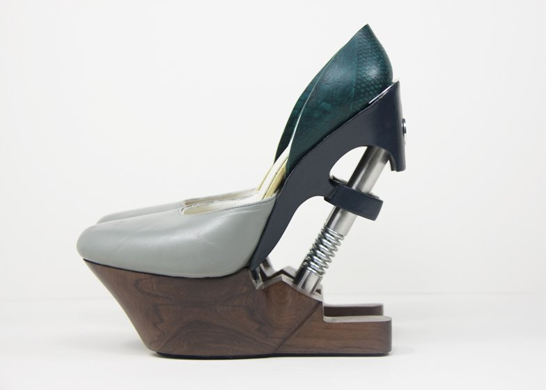 Designers high heels with shock absorbers promise comfort and less