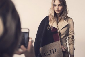 Get your own monogrammed Burberry Prorsum blanket ponchos