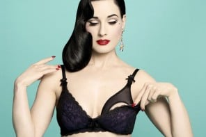 Burlesque queen Dita Von Teese designs a sexy line of lingerie for new moms
