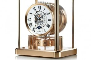 Jaeger LeCoultre unveils third variant of Atmos Classique Phases de lune in Pink Gold
