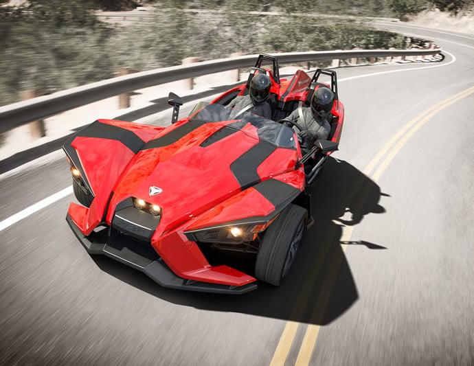 Three Wheeled Polaris Slingshot Roadster Hits The Roads