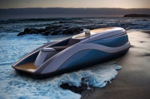 Strand Craft's V8 Wet Rod is a luxury personal water craft that screams opulence