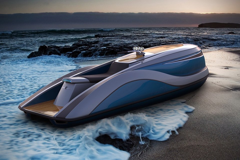 Strand Craft's V8 Wet Rod is a luxury personal water craft that screams opulence -