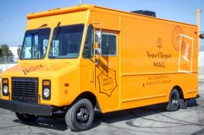 Veuve Clicquot brings snail mail back in style with their new mail truck