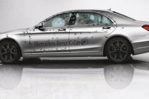 The bulletproof 2015 Mercedes-Benz S-Class Guard can withstand a bomb and yet ride in style