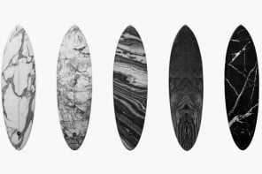 Alexander Wang creates stunning marbled surfboards with Haydenshapes