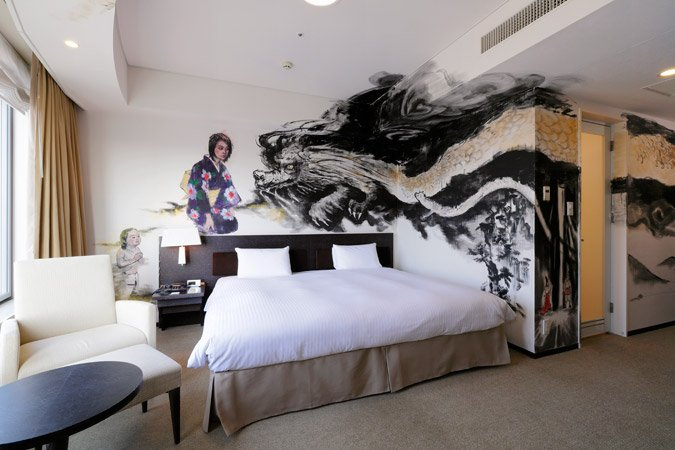 Park Hotel Tokyo shows off Japanese aesthetics with hand-painted ...