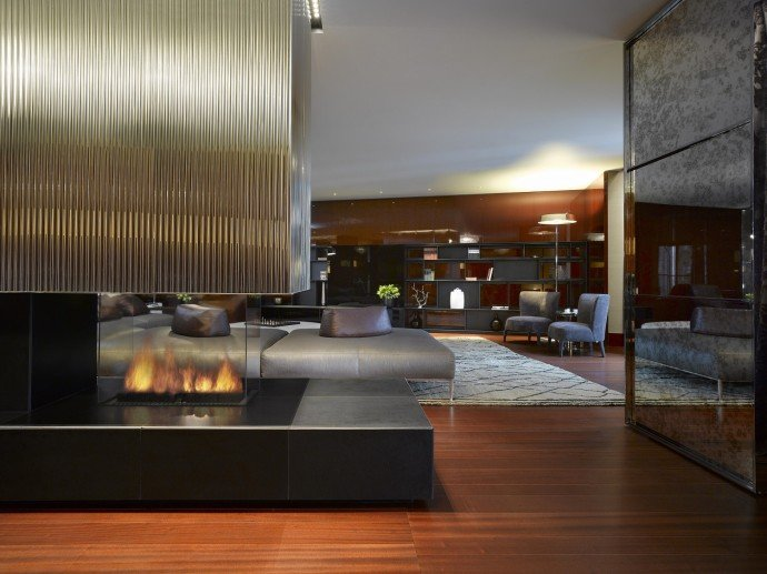 Bulgari Suite Fireplace