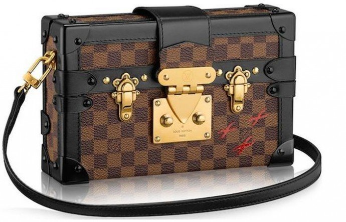 Damier Canvas Body With Black Calfskin Trim – $5,200