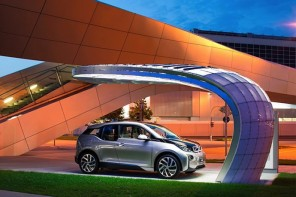 Green and sexy – EIGHT reveals stylish solar charging station for BMW i3 & i8
