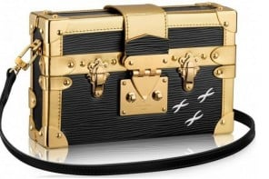 Louis Vuitton's monogrammed trunks take the shape of a clutch