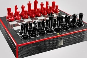 $2,000 Ferrari carbon fiber chess set lets you checkmate in style