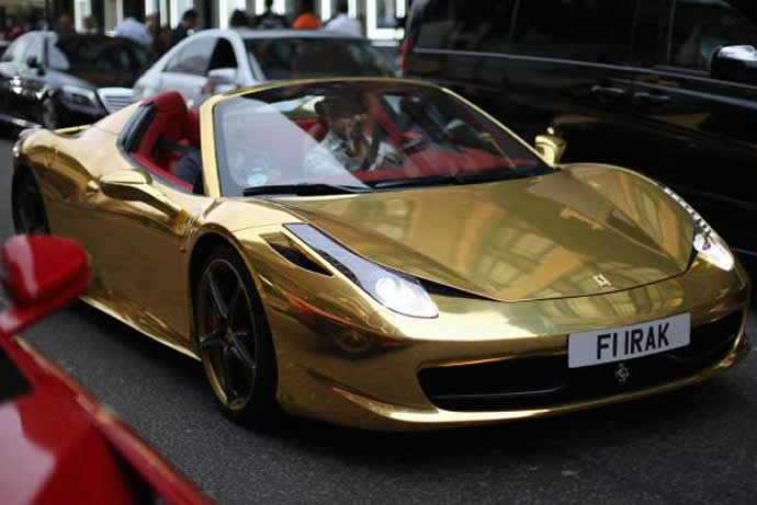 ferrari-gold-plated