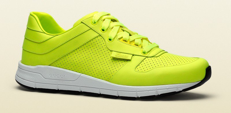 gucci�s fall 2014 neon sneakers are all set to be the it