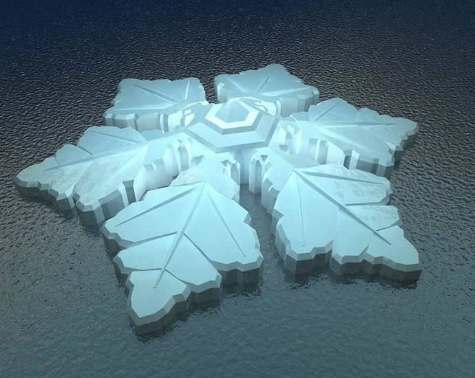 Watch the Northern Lights from the glass roofed snow flake shaped floating hotel in the Artic : Luxurylaunches