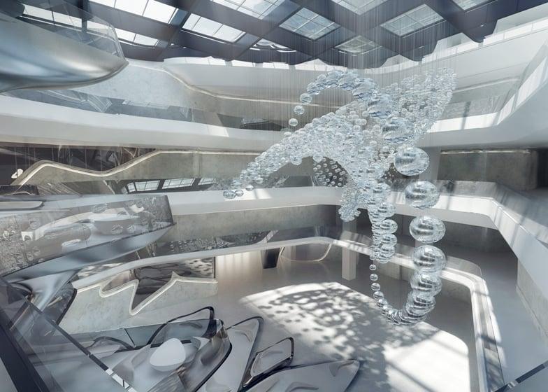 A luxurious spaceship take a look inside the me dubai for Modern hotels near me