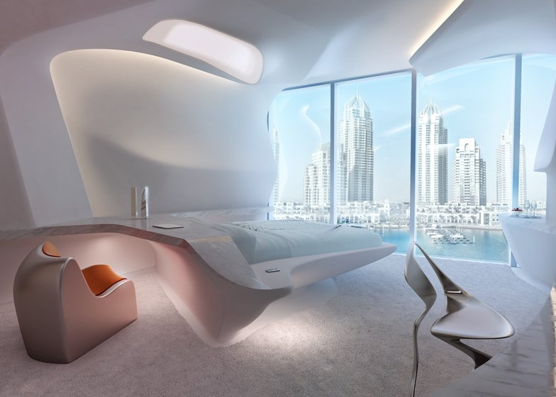 A luxurious spaceship take a look inside the me dubai for Office design zaha hadid