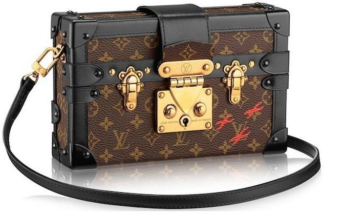 louis vuitton u2019s monogrammed trunks take the shape of a clutch