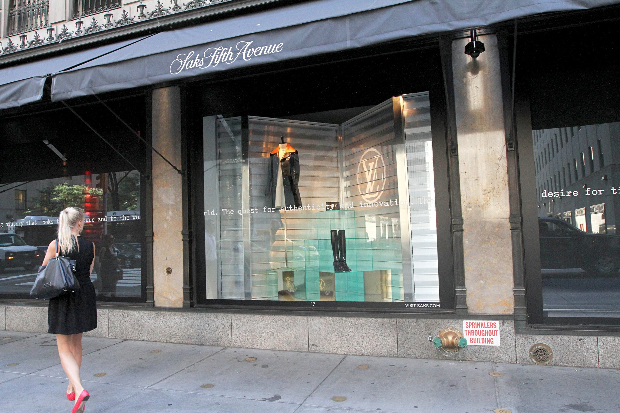 Hear! Hear! Saks Fifth Avenue's display windows scream Louis Vuitton