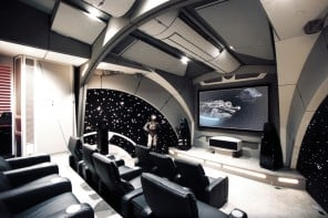 Take a glimpse at the ultimate Star Wars Home Theater themed after the Death Star