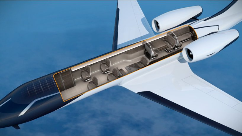 IXION Windowless Private Jet Concept Offers Immersive Panoramic Views