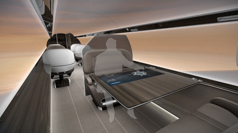 New Mercedes Benz >> IXION windowless private jet concept offers immersive ...