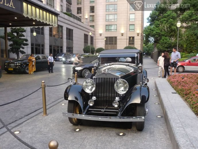 The star of Peninsula Shanghai's fleet - A 1934 Rolls Royce Phantom restored to its original glory.