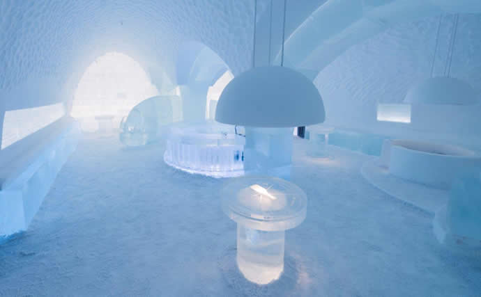"ICEHOTEL by  ICEBAR Jukkasjarvi ""Lost & Found"" by jens Thoms Ivarsson, Tjasa Gusfors & Maurizio Perron, 2013 Photo: Christopher Hauser"