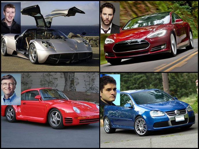 10 Tech billionaires and the humble and the not so humble cars they drive : Luxurylaunches