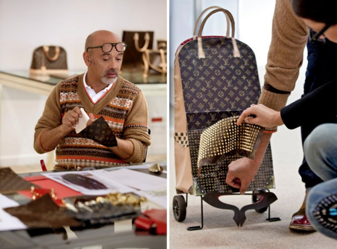 louis vuitton recruits 6 iconoclasts to design travel and messenger bags with their signature. Black Bedroom Furniture Sets. Home Design Ideas