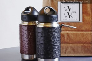 Coffee tumbler covered with Crocodile skin costs a ridiculous $230