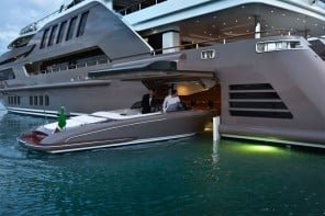 J'ade megayacht by CRN boasts the world's first floating garage
