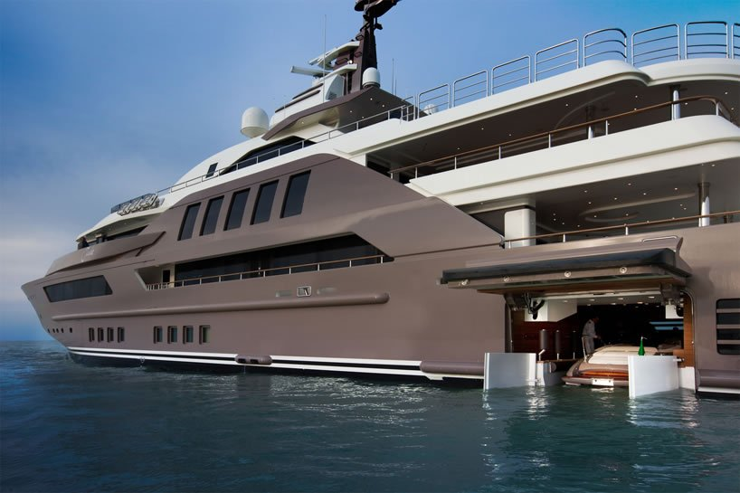 J Ade Megayacht By Crn Boasts The World S First Floating Garage