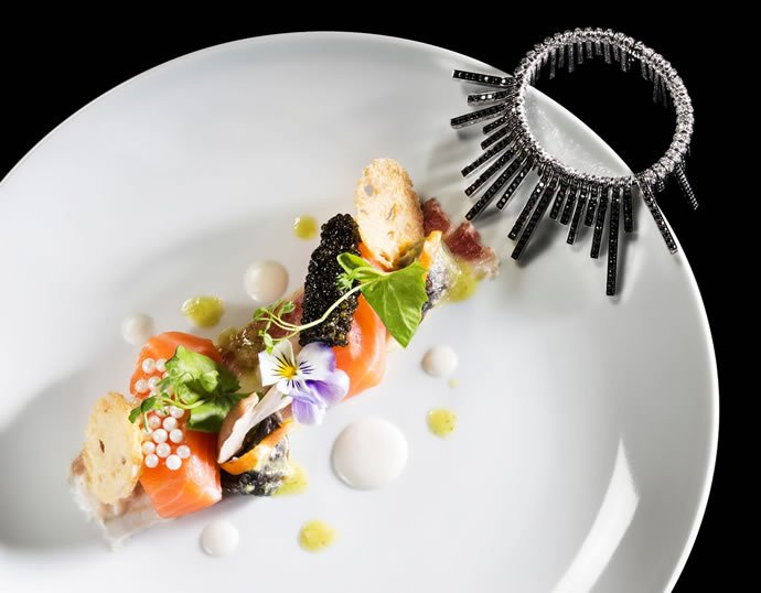 Cured Salmon with Beluga Caviar and White Snail Caviar
